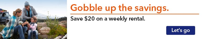 Save $20 on a weekly rental